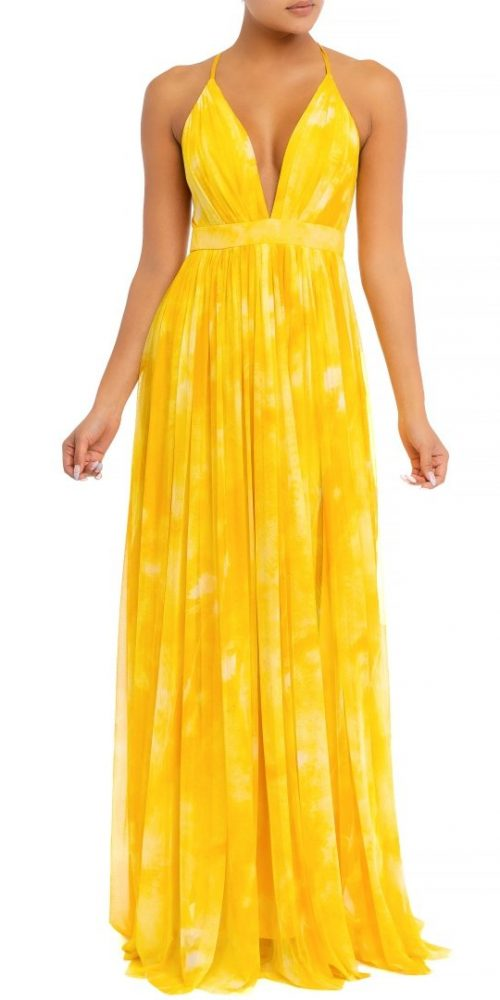 Maxi Dress Amarillo de gasa